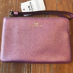 NEW Coach wristlet - shimmery purple
